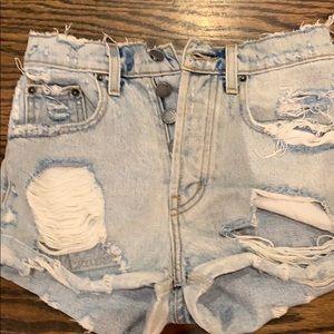 Carmar ripped denim shorts